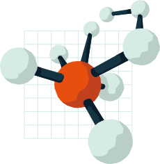 vector graphic of a chemical molecule