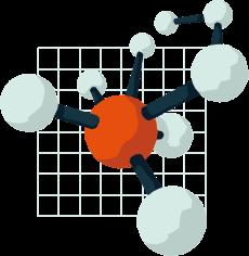 vector graphic of a chemical molecule, Market Intelligence Platform